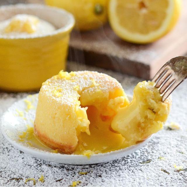 Лимонный фондан